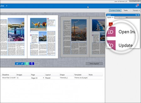 Advanced integration with Adobe InDesign